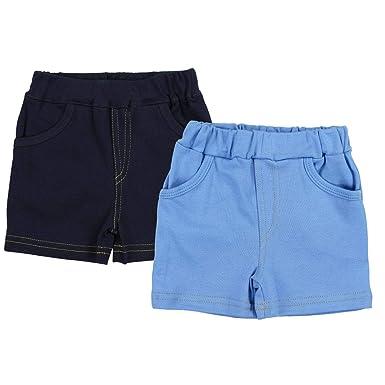 9cb6d00c08 TupTam Jungen Kurze Hose Bermuda 2er Pack, Farbe: Dunkelblau/Blau, Größe: