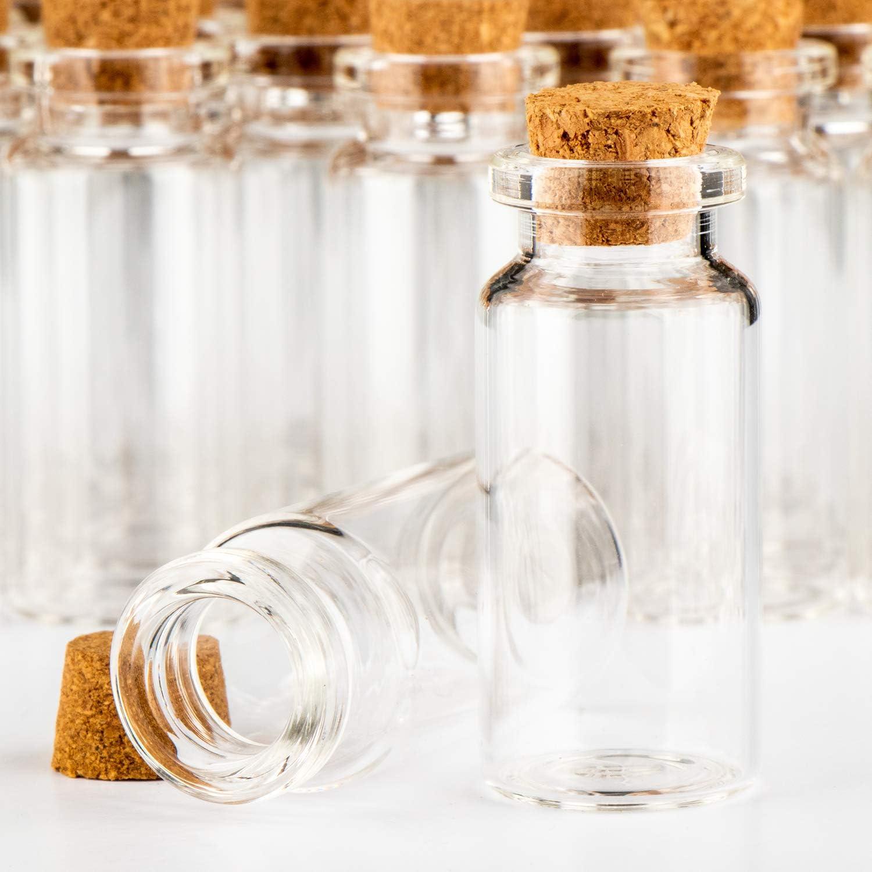 set di barattoli di caramelle 060 pezzi erbe o t/è circa 10 ml fiale di vetro mini com-four/® barattolo di spezie 60x con tappi di sughero stoccaggio di oli spezie