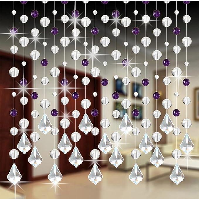Gut DRESS_start Kristallglas Perlen Vorhang Luxus Dekor Wohnzimmer Schlafzimmer  Fenster Tür Dekor Hochzeitsdekor 1m (F)
