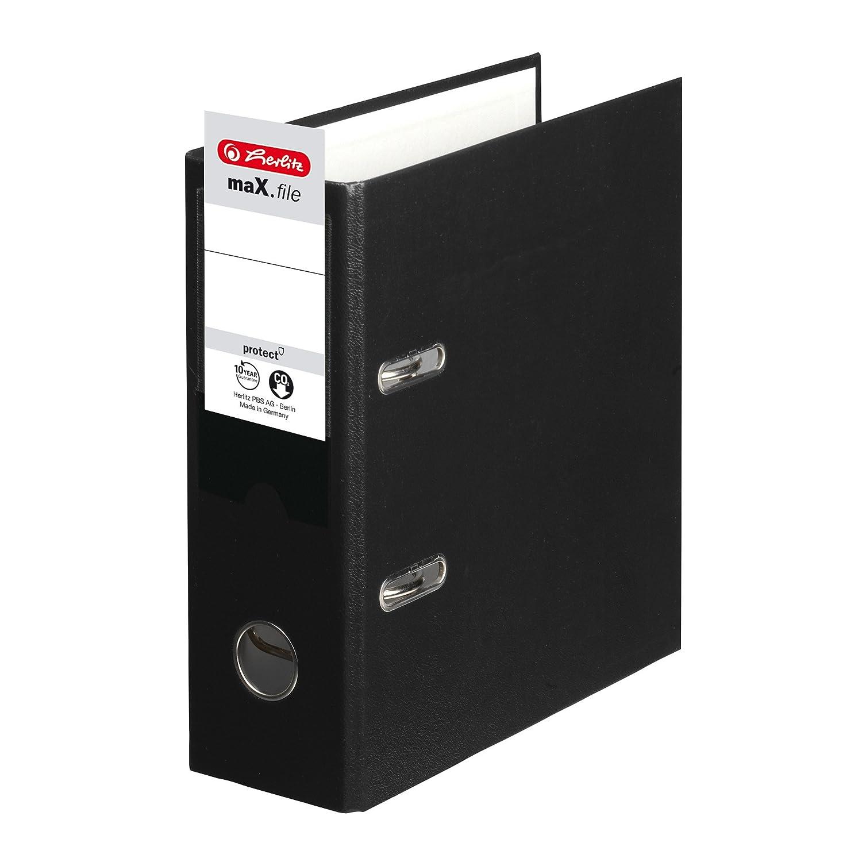 Herlitz 10842300 - Archivador protector de archivos, A5, color negro