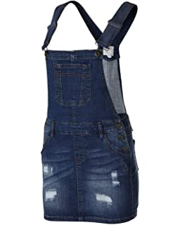 7eaba5c6f11 Dream Supply Women s Juniors Distressed Skirtall Adjustable Strap Overalls