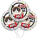 """Grumpy Cat """"Better With Age"""" Mylar Balloon 3 Pack"""