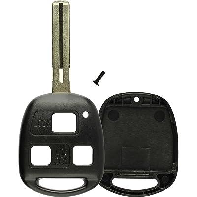 KeylessOption Key Replacement Case Shell Keyless Entry Remote Fob Uncut Blade Fix Master for Hyq1512v, Hyq12bbt: Automotive