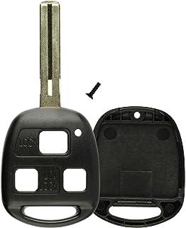 HYQ1512V KeylessOption Replacement Flip Key Shell Case Keyless Remote Car Fob Uncut Blade for Lexus HYQ12BBT
