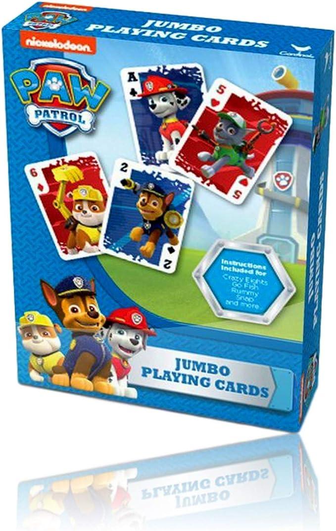 Jeu de Cartes de la Pat/' Patrouille PAW PATROL Jumbo Playing Cards