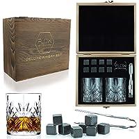 Flow Barware - Juego de vasos de whisky