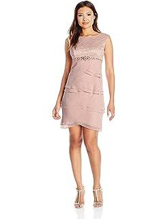 eea60005d Jessica Howard Women s Petite Beaded Neck Popover Dress at Amazon ...