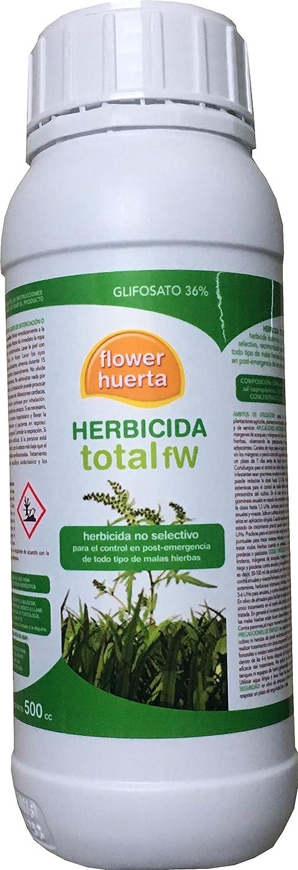 Herbicida Total Flower H. 500cc Control Post Emergencia Todo Tipo Malas Hierbas: Amazon.es: Hogar