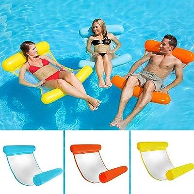 ArKone Inflable Flotante Cama Agua Hamaca Lounge Silla Cómoda Flotante Piscina Playa Flotador para Adultos - Azul, 130cm x 70cm: Deportes y aire libre