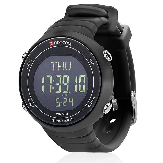 Relojes deportivos Impermeable al Aire Libre Podómetro Reloj EL Retroiluminación Podómetro Digital Reloj Deporte Pulsera Reloj: Amazon.es: Relojes