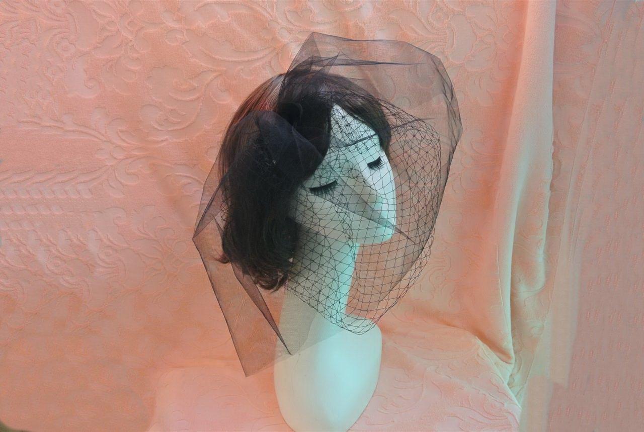 Goliton moda viso velo per foto fotografia nozze nero Black M JEW.L12.TOU.SHA.XXB