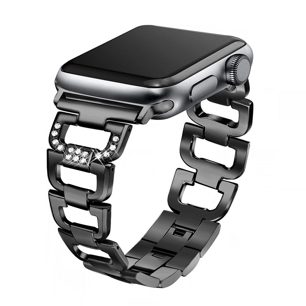 Amazon.com  Secbolt Bling Band Compatible Apple Watch Band 42mm 44mm ... 25a8677bd3c5
