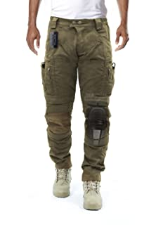 aeea1d0aa0ac0 Survival Tactical Gear Men's Airsoft Wargame Tactical Pants with Knee  Protection System & Air Circulation System