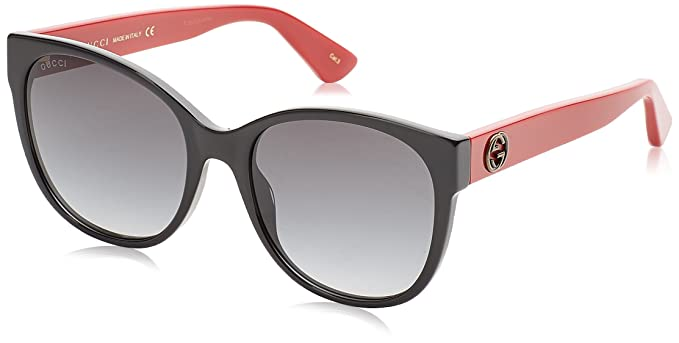 Gucci GG0097S 005, Gafas de Sol para Mujer, Negro (Black/Grey)