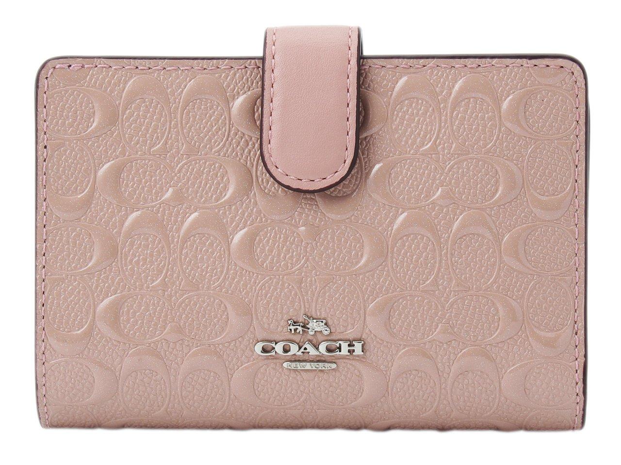 (コーチ) COACH 財布 二つ折り シグネチャー パテント MEDIUM CORNER F25937 アウトレット [並行輸入品] B07B7JLGK1 ブラッシュ2 ブラッシュ2