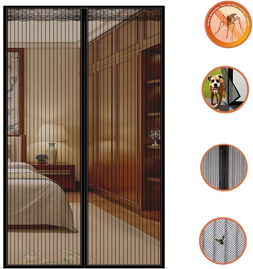 KEANCH Puerta de Pantalla magnética para Puertas francesas, Marco De Sellar Completo, para Puertas Correderas/Balcones/Terraza (Color : Negro, Tamaño : 80x220cm(31x87inch)): Amazon.es: Hogar