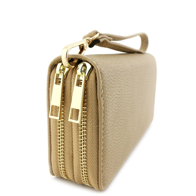 Double Zip Around Wristlet Wallet Tan by Alyssa (Image #2)