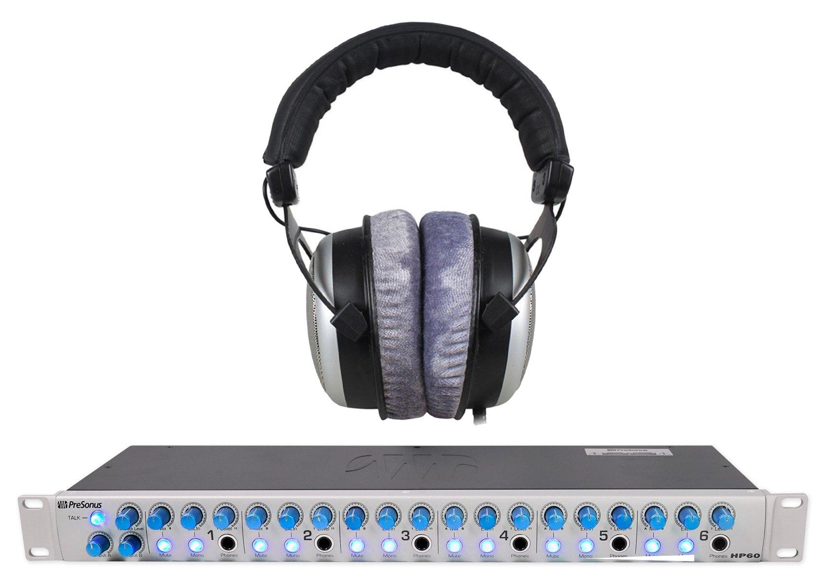 Beyerdynamic DT-880 Pro 250 Ohm +Presonus HP60 6 Channel Headphone Amplifier Amp