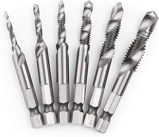 "1//4/"" x 1/"" Drill Bit Threaded Shank Drill 1//4-28 High Speed Steel 25 Pack"