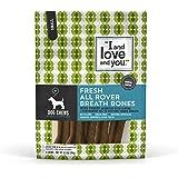 """I and love and you"" Fresh All Rover Breath Bones Grain Free Dog Chews"