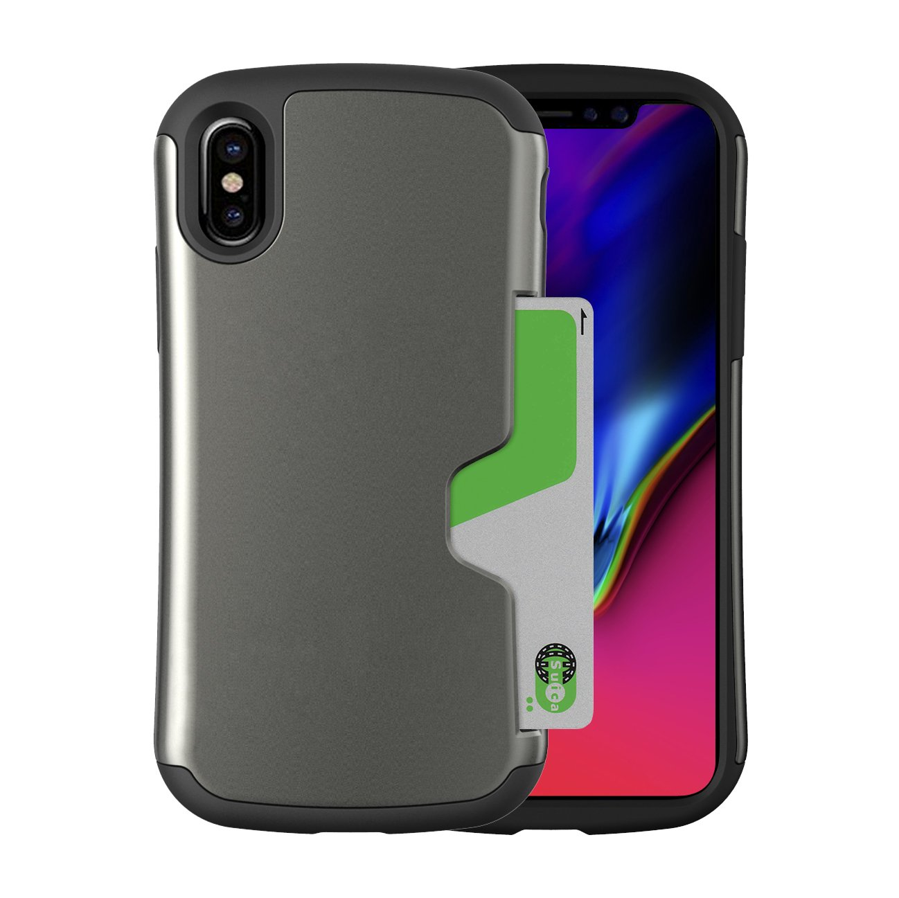 4460ef03c6 Amazon | カード収納機能付ケース Phonefoam Golf Original ピンク iPhone SE | ケース・カバー 通販