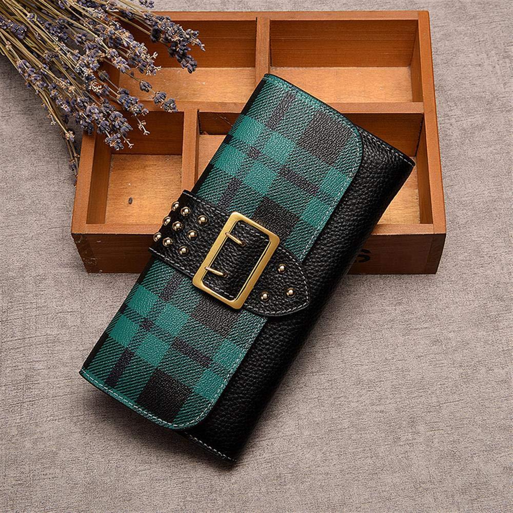 WeoHau Damenmode Plaid Brieftasche Lange Pu-Multifunktions-Beiläufige Handtasche, Handtasche, Handtasche, Rot B07PCR1X95 Geldbrsen 655cc2