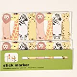 Happy Star® 120 Sheets Cute Wild Animals Mini Sticky Notes Page Marker Memo Tab Sticker