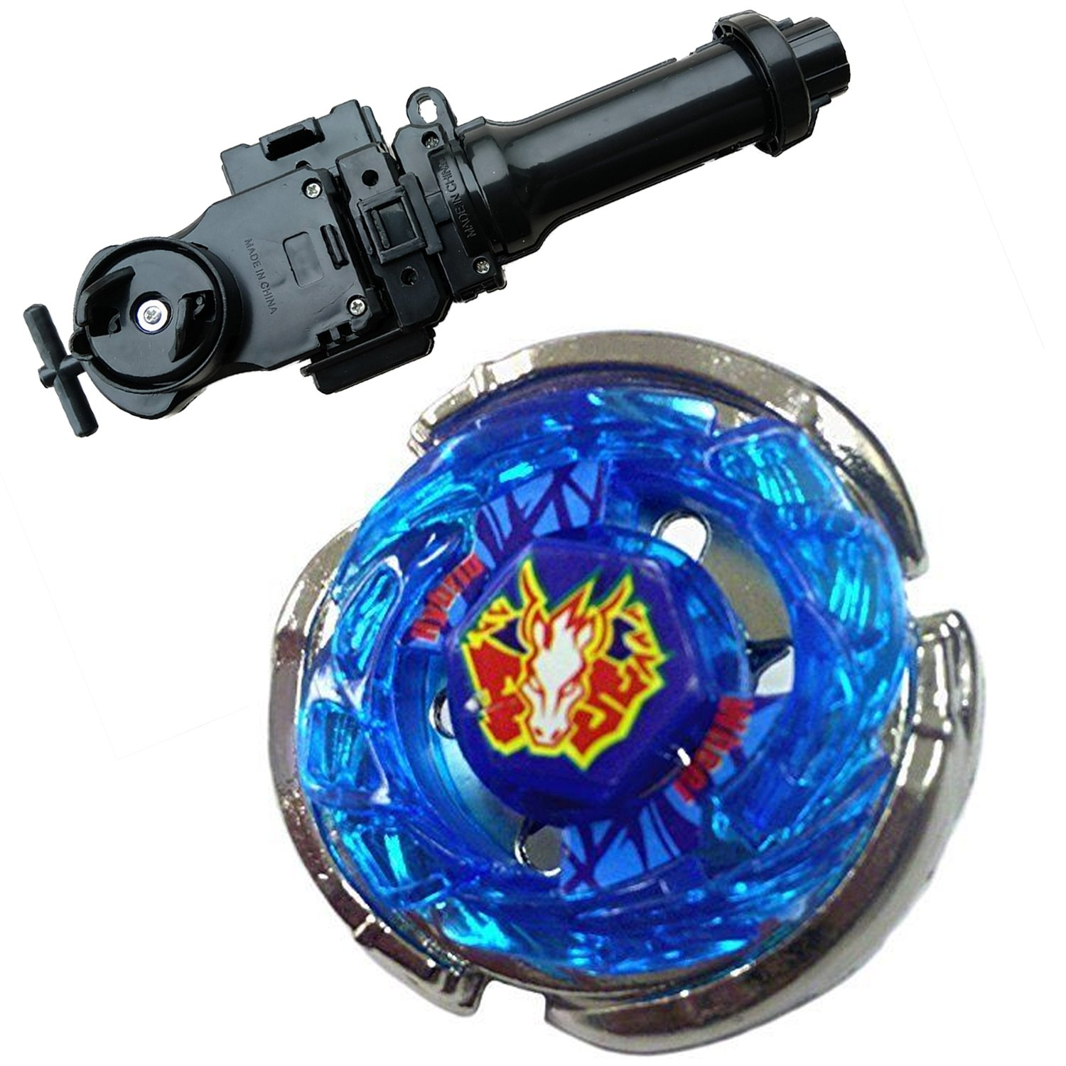 xsestore Lots BB-28 Storm Pegasus Metal 4D High Performance Game with Metal Fusion Fight Power Launcher Black + Launcher Grip Set CHINA