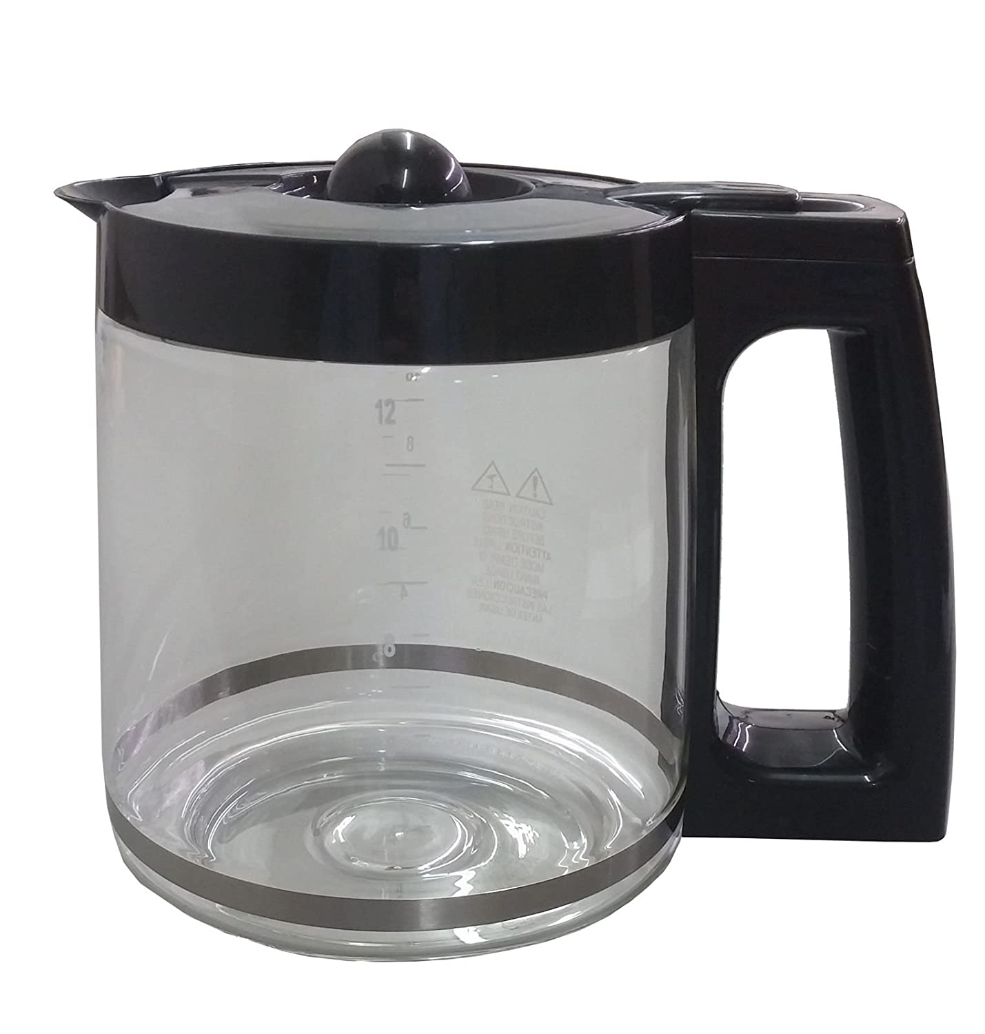 YourStoreFront 12-Cup Replacement Glass Coffee Carafe Pot for Hamilton Beach Coffee Maker 49980Z