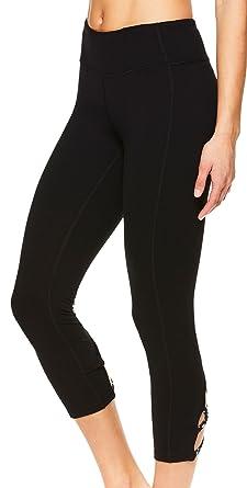 44562267a55ba Image Unavailable. Image not available for. Colour: Gaiam Women's Capri  Yoga Pants - Performance Spandex Compression Legging ...