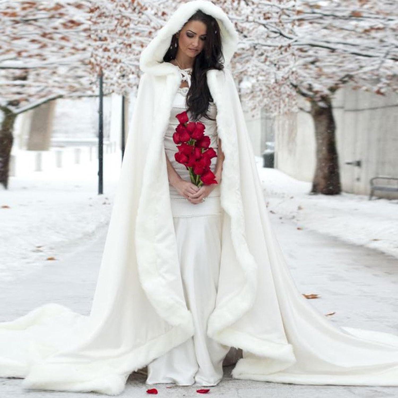 Winter Bridal Wedding Coat White Cape Jacket Shawl Wraps for ...