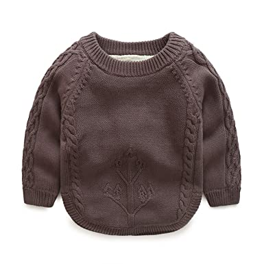 Huainsta Kids Sweaters Winter Lovely Embroidery Baby Sweater Outwear Long Sleeve