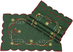 Xia Home Fashions Magical Christmas Placemats, 12 by 18-Inch, Set of 4