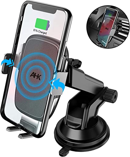 Samsung Note9 8 7 10W 7.5W Qi Fast Charging Phone Mount Auto Clamping Car Phone Holder Compatible with iPhone Xs Max//XS//XR//X//8Plus//8 Samsung Galaxy S10//S9//S8//S8 Squish Wireless Car Charger Air Vent