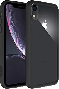elcase Air Bolster iPhone XR Clear Case - Protective iPhone XR Case Shockproof Drop Protection, TPU Bumper, Scratch-Resistant Hard PC Back - iPhone XR Cover Case 6.1 inch Compatible (Matte Black)