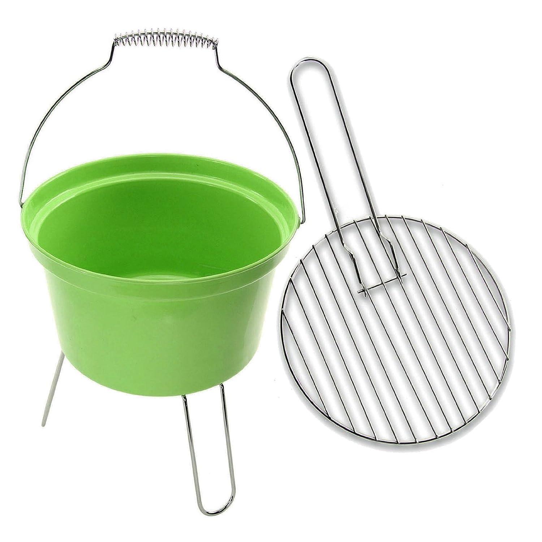 4YourHome Lightweight Portable Camping BBQ Bucket - Green