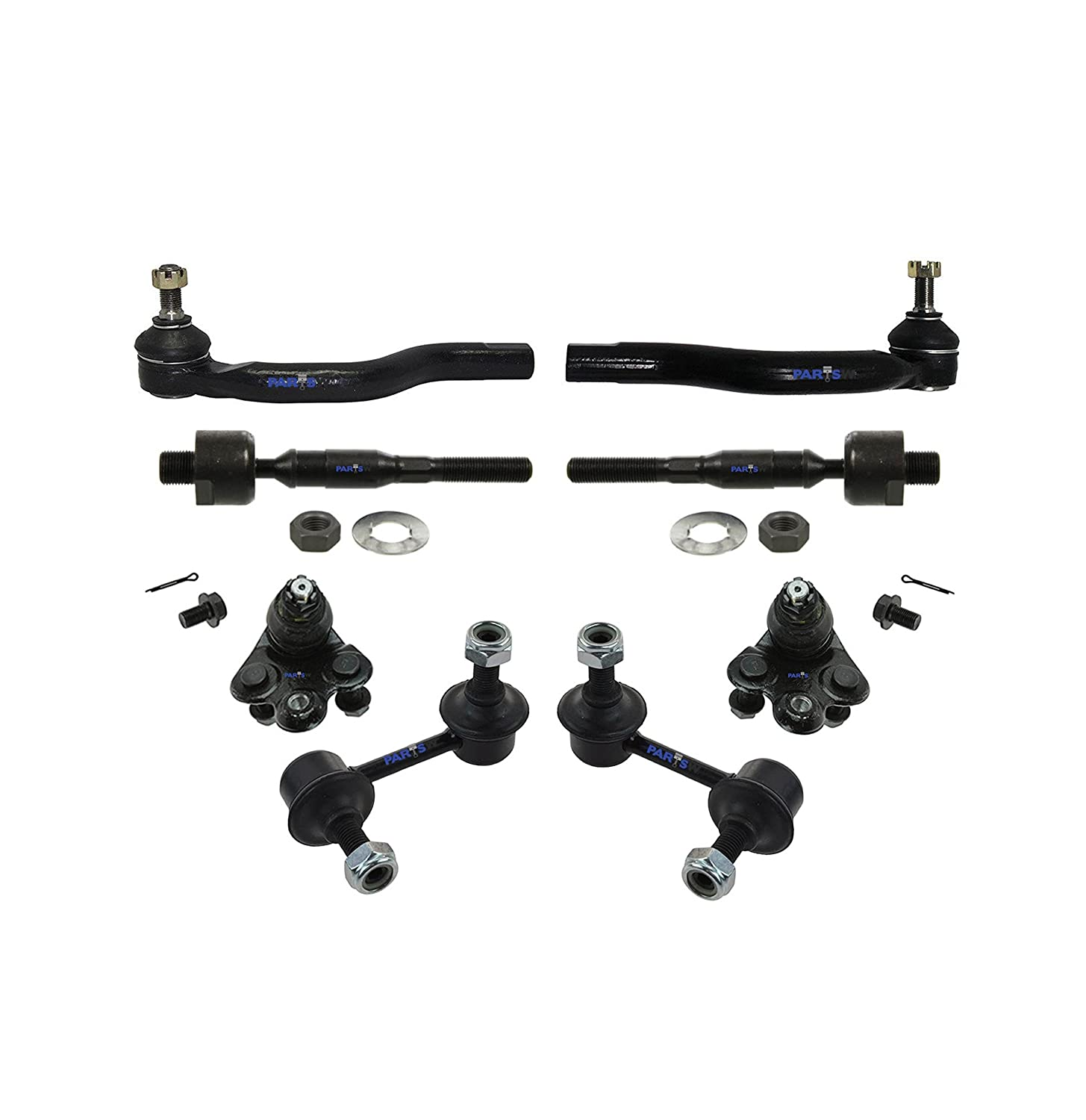 06-11 Ball Joint /& Sway Bars Left /& Right Side 1.8L L4 Engine Models Inner /& Outer Tie Rod PartsW 8 Pc New Front Suspension Kit for Honda Civic
