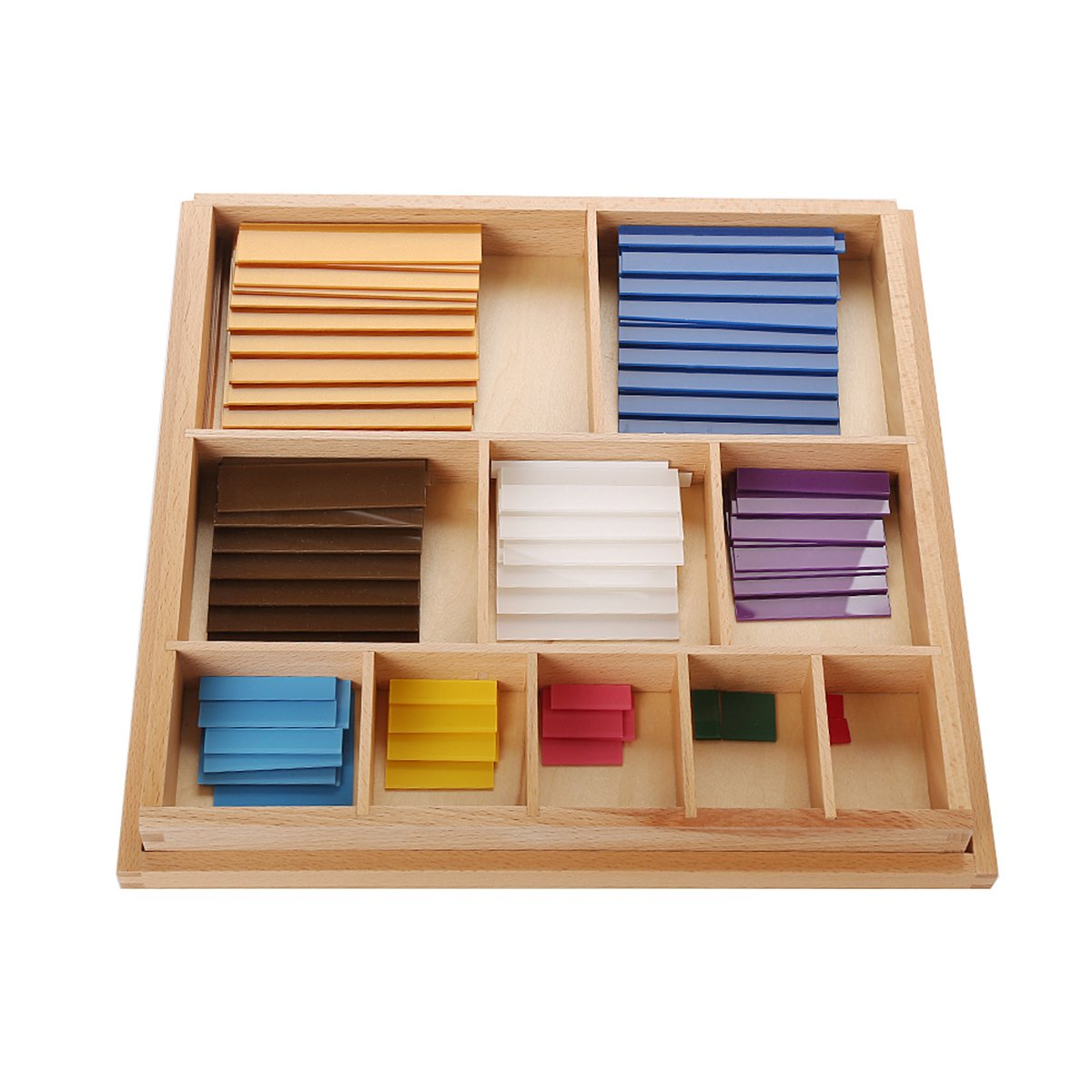 LEADER JOY Montessori Math Materials Decanomial Squares for Early Preschool Learning Toy