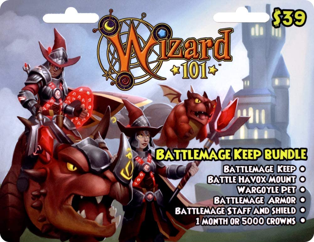 Amazon com: Wizard 101 Battlemage Keep Bundle Prepaid Game Card