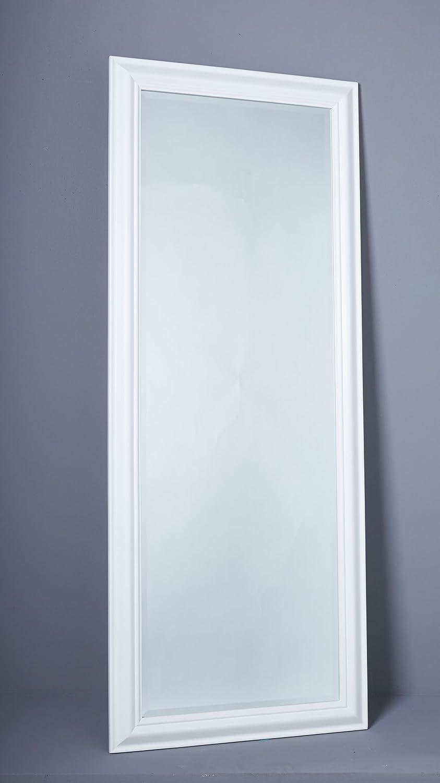 Wandspiegel Spiegel Flurspiegel 150 x 60 cm weiß schlichter Landhaus ...