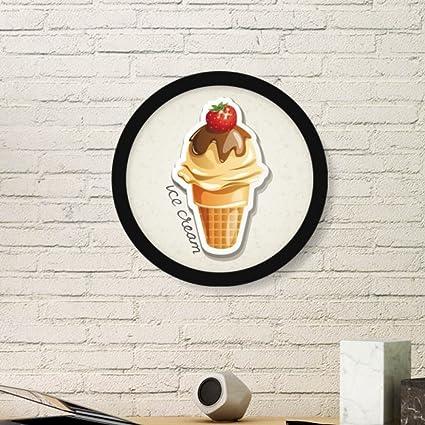 Amazon.com: Strawberry Chocolate Sweet Ice Cream Cone Art Painting ...