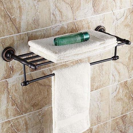 LINA-Oscuro antiguo toalla estante cobre toallas toalla baño accesorios de baño