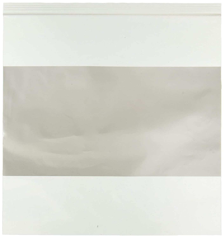Bauxko 12 x 12 White Block Reclosable Poly Bags 4 Mil x-PB4015-100 100-Pack