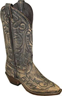 """product image for Abilene 9088 12"""" Sanded Tan Cowhide, Snip Toe, Genuine Leather Outsole, 1 1/4"""" Western Heel, Size"""