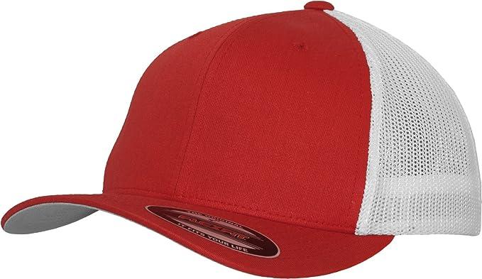 443ee515 Flexfit Men Caps Flexfit Mesh Trucker 2-Tone 6511T, color:red/white ...