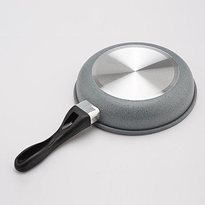 LONGLISHENG Sartén de Aluminio con Mango de Silicona Resistente al Calor Antiadherente para Cocina: Amazon.es: Hogar