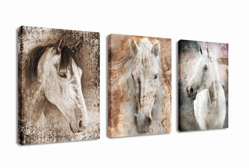 Canvas Wall Art Horse Painting Prints on Framed Ready to ...