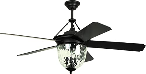 Litex E-KM52ABZ5CMR Knightsbridge Collection – 52 Ceiling Fan, Aged Bronze Finish with Special Aged Bronze ABS Blades
