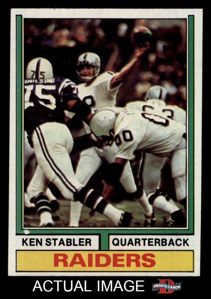Football Card Deans Cards 6 EX//MT Raiders Alabama 1974 Topps # 451 Ken Stabler Oakland Raiders