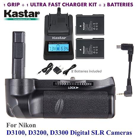 Kastar Pro Multi-Power - agarre vertical de batería + 2 x EN-EL4 a ...